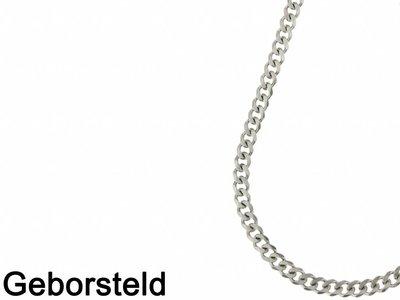Bukovsky Stainless Steel Jewelry Bukovsky Stalen Heren Ketting SH9715 - Gourmette - Brushed - Lengte: 56 cm - Breedte: 0,9 cm - Dikte: 0,2 cm