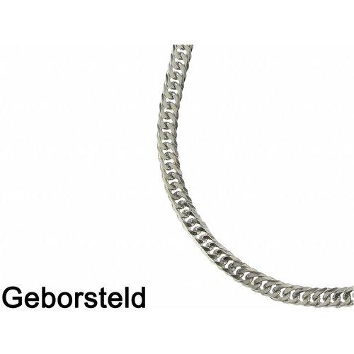 Bukovsky Stainless Steel Jewelry Bukovsky Stalen Heren Ketting SH9030 - Gourmette - Brushed - Lengte: 71 cm - Breedte: 0,6 cm - Dikte: 0,2 cm