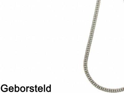Bukovsky Stainless Steel Jewelry Bukovsky Stalen Heren Ketting SH9240 - Gourmette - Brushed - Extra Lang - Lengte: 72 cm - Breedte: 0,9 cm - Dikte: 0,4 cm