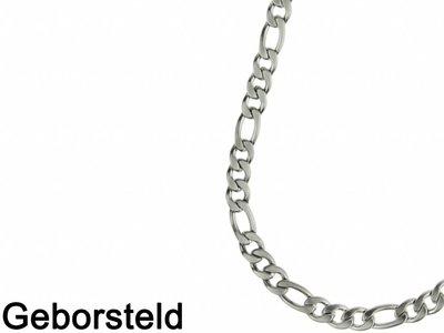 Bukovsky Stainless Steel Jewelry Bukovsky Stalen Heren Ketting SH7150 - Figaro - XL - Brushed -Lengte: 60cm - Breedte: 1,0cm - Dikte: 0,3cm