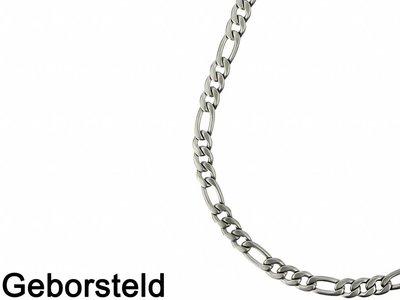Bukovsky Stainless Steel Jewelry Bukovsky Stalen Heren Ketting SH8280 - Figaro - Brushed - Lengte: 59 cm - Breedte: 0,8 cm - Dikte: 0,2 cm