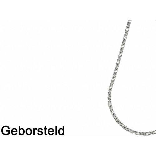 Bukovsky Stainless Steel Jewelry Bukovsky Stalen Heren Ketting SH7440 - Konings - Medium - Brushed -  Lengte: 54 cm - Breedte: 0,5 cm - Dikte: 0,5 cm