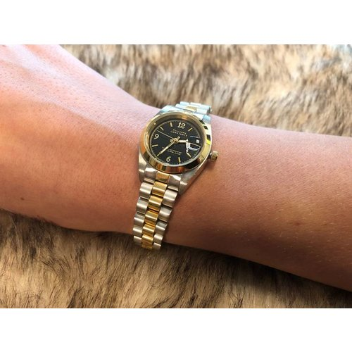 Stalen Philippe Constance Horloge Philippe Constance Stalen Dameshorloge - 6220 Small - Bicolor - Goud - Zilver - Schakelband - Datumaanduiding