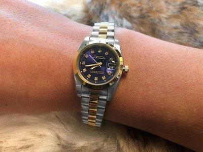 Stalen Philippe Constance Horloge Philippe Constance Stalen Dameshorloge - 6770 Small - Bicolor - Goud - Zilver - Schakelband - Strass - Datumaanduiding