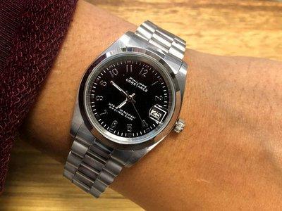 Stalen Philippe Constance Horloge Philippe Constance Stalen Dameshorloge 7880 Medium - Zilverkleur - Zwart- Schakelband- Datumaanduiding