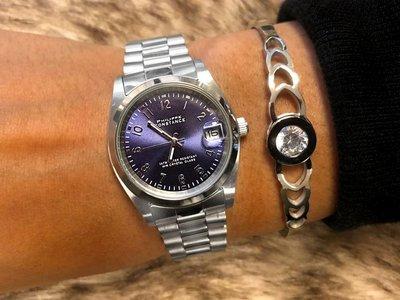 Stalen Philippe Constance Horloge Philippe Constance Stalen Dameshorloge - 7530 Medium - Zilver - Indigo Blauw - Schakelband - Datumaanduiding