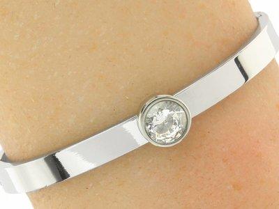 "Bukovsky Stainless Steel Jewelry Stalen Dames Armband ""Ruby"" - Deluxe - Zilverkleur - Strass - Gepolijst Stainless Steel"