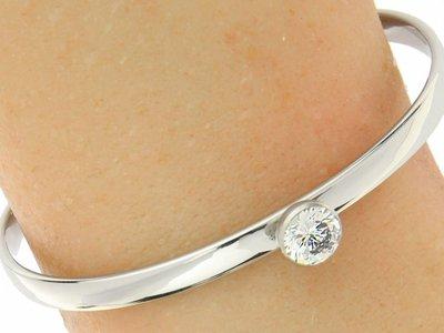 """Bukovsky Stainless Steel Jewelry Stalen Dames Bangle Armband """"Reign"""" - Deluxe - Zilverkleur - Strass - Gepolijst"""