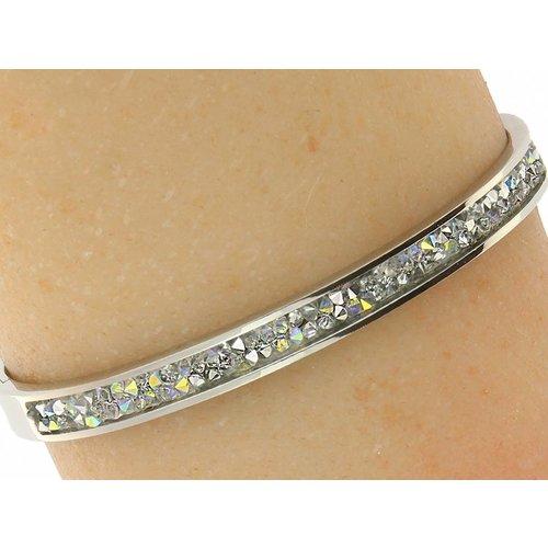 "Bukovsky Stainless Steel Jewelry Stalen Dames Armband ""Sophia"" Deluxe - Zilverkleur - Strass Plating - Rvs"