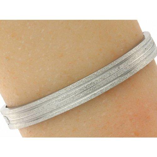 "Bukovsky Stainless Steel Jewelry Stalen Dames Armband ""Kate"" Deluxe - Zilverkleur - Crystal Plating - Gepolijst"