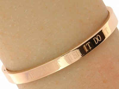 "Bukovsky Stainless Steel Jewelry Stalen Dames Quote Armband ""Dream It Wish It Do It "" - Roséplating - Gepolijst - Rvs"