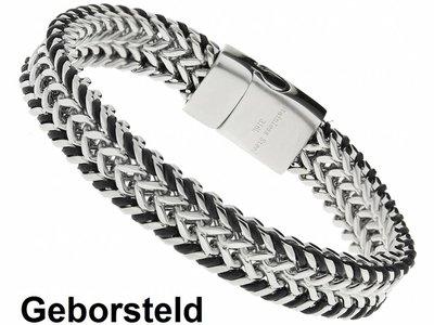 "Bukovsky Stainless Steel Jewelry Stalen Heren Armband Bukovsky ""Bright"" - Geborsteld - Vanaf € 39,50"