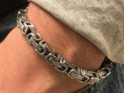 Bukovsky Stainless Steel Jewelry Stalen Heren Armband Bukovsky S7415 - Koningsschakel - Geborsteld - Breedte: 0,6cm - Dikte: 0,6 cm - Gratis Verzending