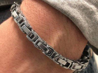 Bukovsky Stainless Steel Jewelry Stalen Heren Armband Bukovsky S7415 - Koningsschakel - Gepolijst - Breedte: 0,6 cm - Dikte: 0,6 cm - Gratis Verzending