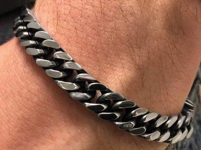 Bukovsky Stainless Steel Jewelry Stalen Heren Armband Bukovsky S7485 - Gourmette schakel - Gepolijst - Black Oiled - Breedte:  0,8 cm - Dikte: 0,3 cm - Gratis Verzending