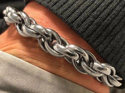 Bukovsky Stainless Steel Jewelry Stalen Heren Schakelarmband Bukovsky S7750 - Ovaal - Gepolijst - Breedte: 1,0 cm - Dikte: 1,0 cm - Gratis Verzending