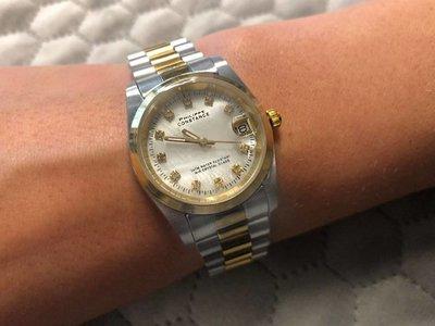 Stalen Philippe Constance Horloge Philippe Constance Stalen Dameshorloge - 7315 Medium - Bicolor - Goud - Zilver - Strass - Parelmoer - Schakelband