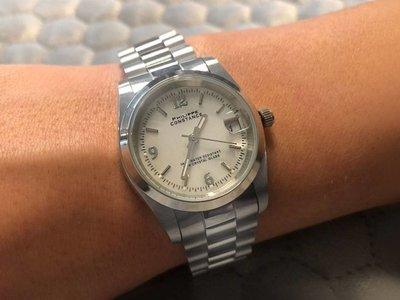 Stalen Philippe Constance Horloge Philippe Constance Stalen Dameshorloge - 7285 Medium - Zilver - Parelmoer - Schakelband - Datumaanduiding
