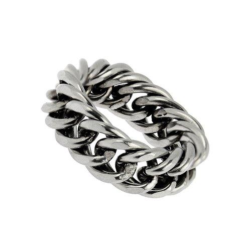 Bukovsky Stainless Steel Jewelry Stalen Bukovsky Heren Ring Royale XL -  316L Gepolijst Staal - Vanaf € 26,50 - Gratis Verzending