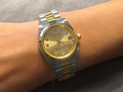 Stalen Philippe Constance Horloge Philippe Constance Stalen Dameshorloge - 7255 Medium - Bicolor - Goud - Zilver - Strass - Goud - Schakelband