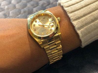 Stalen Philippe Constance Horloge Philippe Constance Stalen Dameshorloge - 7355 Medium - Goud - Strass - Schakelband - Datumaanduiding