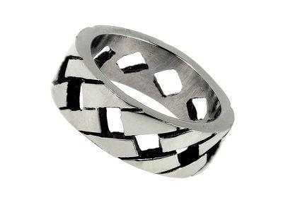 Bukovsky Stainless Steel Jewelry Stalen Bukovsky Dames Ring Allure - 316L Gepolijst Staal - Gratis Verzending