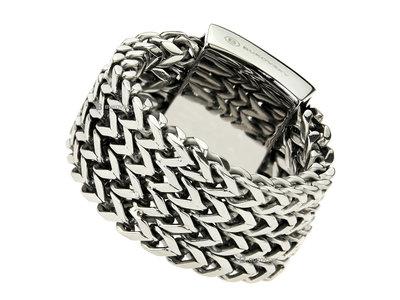 Bukovsky Stainless Steel Jewelry Stalen Bukovsky Ring Excellent met Visgraat Schakels - 316L Gepolijst Staal - Vanaf € 28,50 - Gratis Verzending