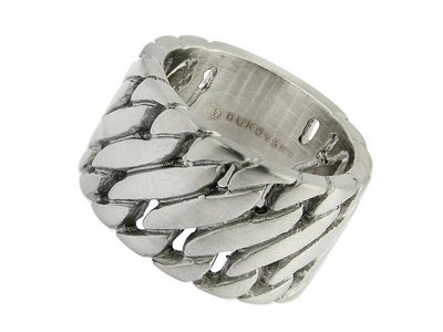 Bukovsky Stainless Steel Jewelry Stalen Bukovsky Heren Ring Elegance - 316L Geborsteld Staal - Vanaf € 27,50 - Gratis Verzending