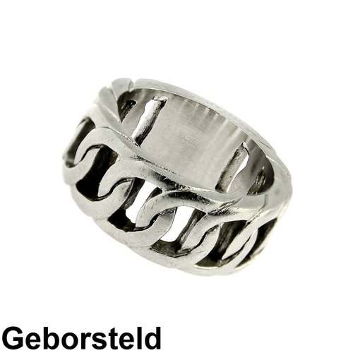 Bukovsky Stainless Steel Jewelry Stalen Bukovsky Heren Ring Brilliant - 316L Geborsteld Staal - Vanaf € 27,50 - Gratis Verzending