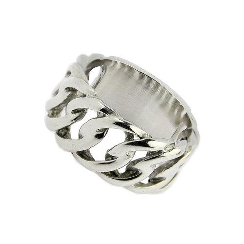 Bukovsky Stainless Steel Jewelry Stalen Bukovsky Ring Outrageous - 316L Gepolijst Staal - Vanaf € 25,00 - Gratis Verzending