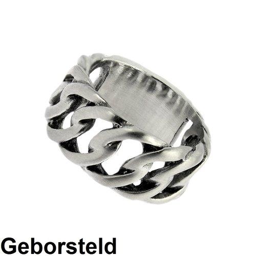 Bukovsky Stainless Steel Jewelry Stalen Bukovsky Heren Ring Outrageous  - 316L Geborsteld Staal - Vanaf € 25,00 - Gratis Verzending