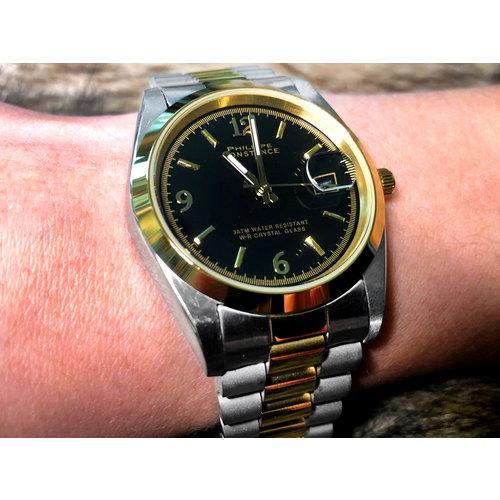 Stalen Philippe Constance Horloge Philippe Constance Dameshorloge Staal - 9370 Large - Staal - Bicolor - Goud - Zilver - Datumaanduiding - Gratis Verzending