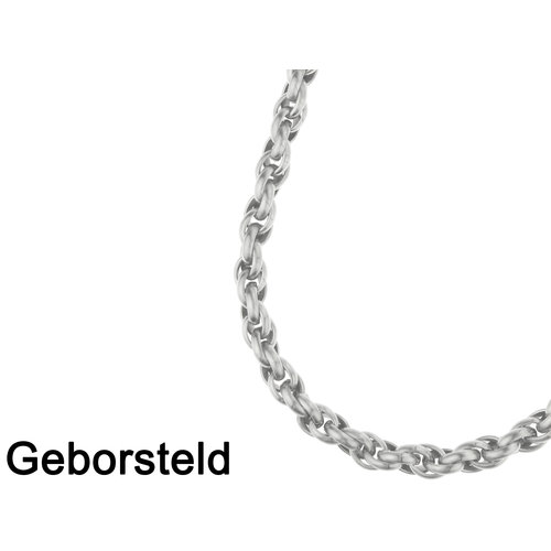 Bukovsky Stainless Steel Jewelry Bukovsky Stalen Heren Ketting SH7300 - Geborsteld - Ovaal - Breedte: 1,0 cm - Dikte: 1,0 cm - 4 Lengtematen vanaf € 55,00