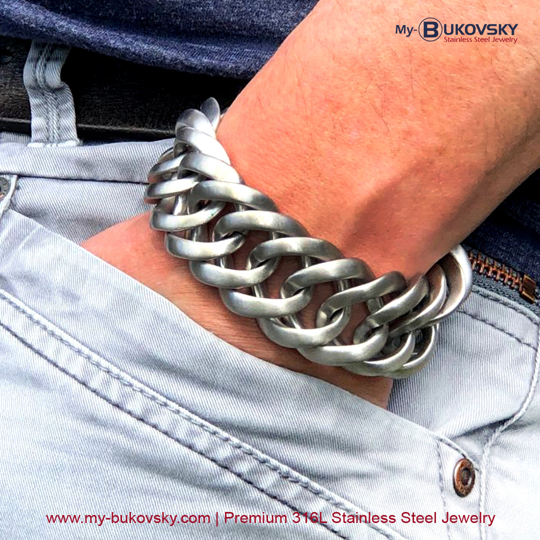 rvs-stalen-heren-men-bracelet-schakelarmband-mat-geborsteld-prestigexl-bukovsky-gourmette-baksluiting-brushed-18cm-19cm-20cm-21cm-22cm-23cm-24cm