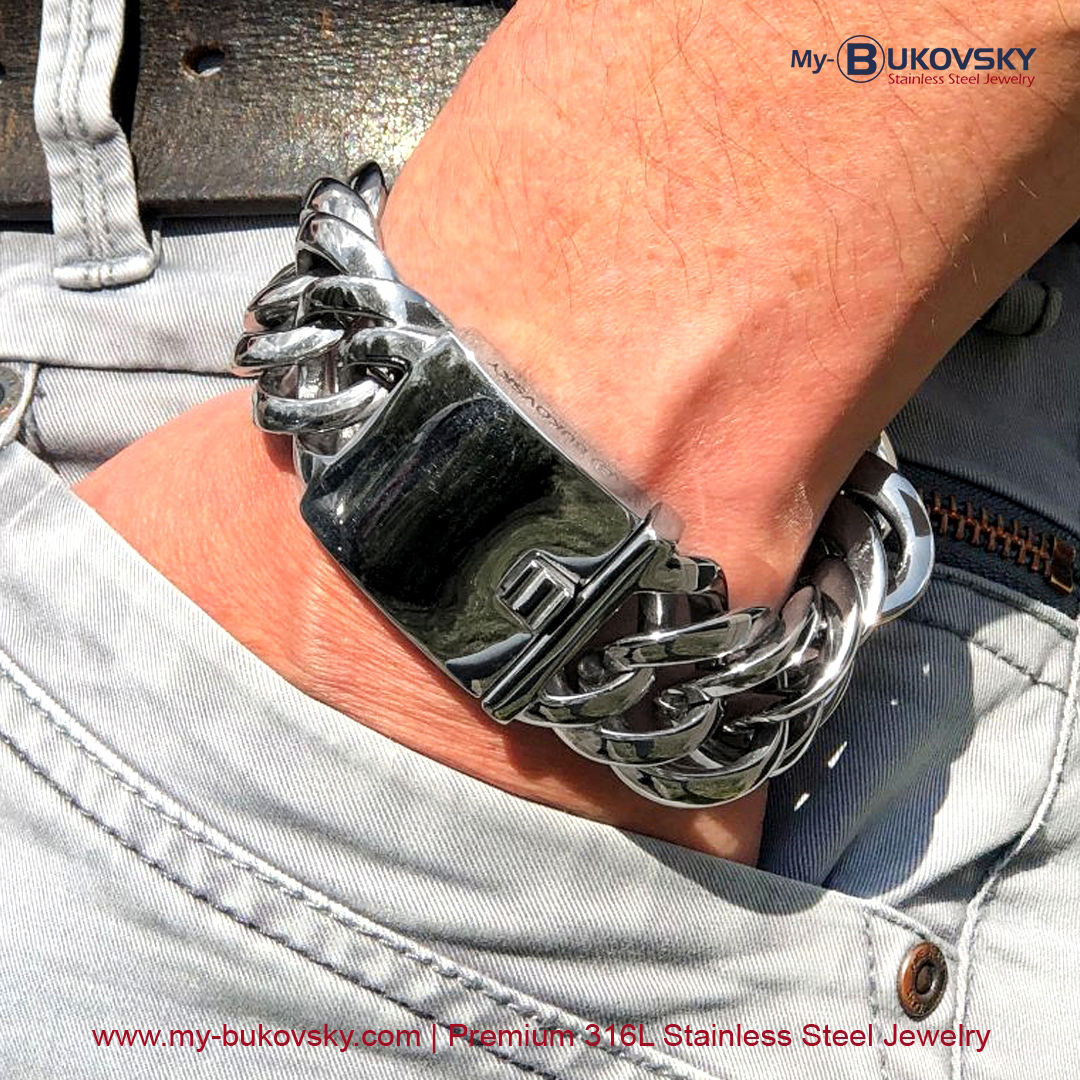 rvs-stalen-heren-schakelarmband-bukovsky-gourmette-baksluiting-18cm-19cm-20cm-21cm-22cm-23cm-24cm-aanbieding