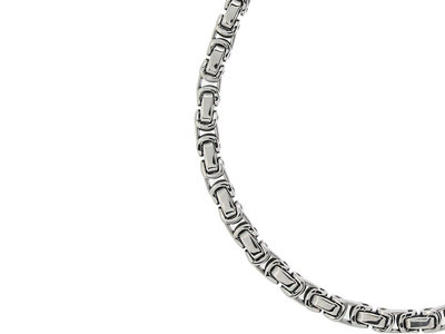 Bukovsky Stainless Steel Jewelry Bukovsky Stalen Heren Ketting SH7440 - Konings - Large - Breedte:  0,7 cm - Dikte:  0,7 cm - 4 Lengtematen vanaf € 45,00
