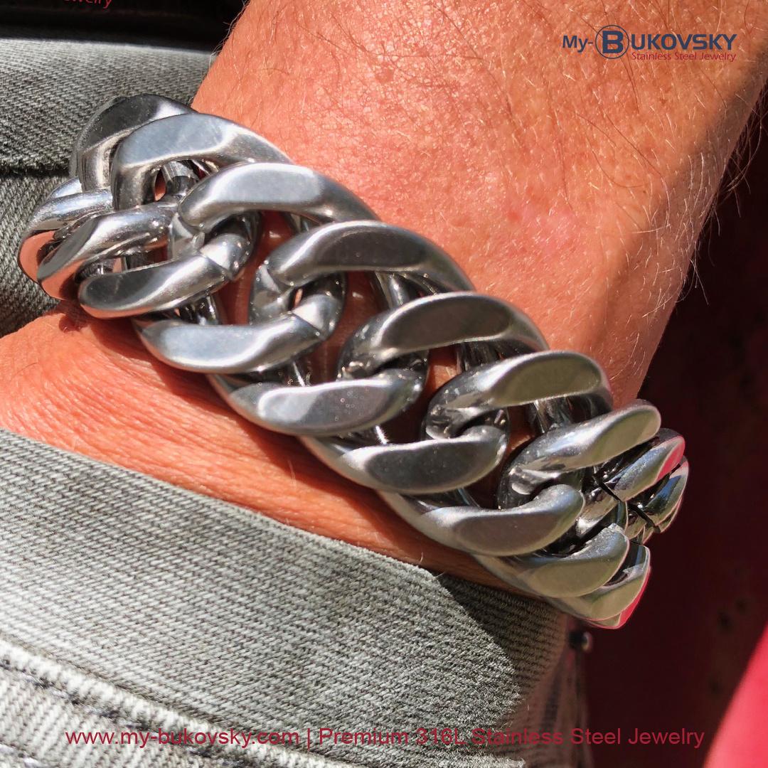 brede-heren-armband-geborsteld-staal-schakel-gourmette-baksluiting-men-bukovsky-bracelet-steel-brushed-18cm-19cm-20cm-21cm-22cm-23cm