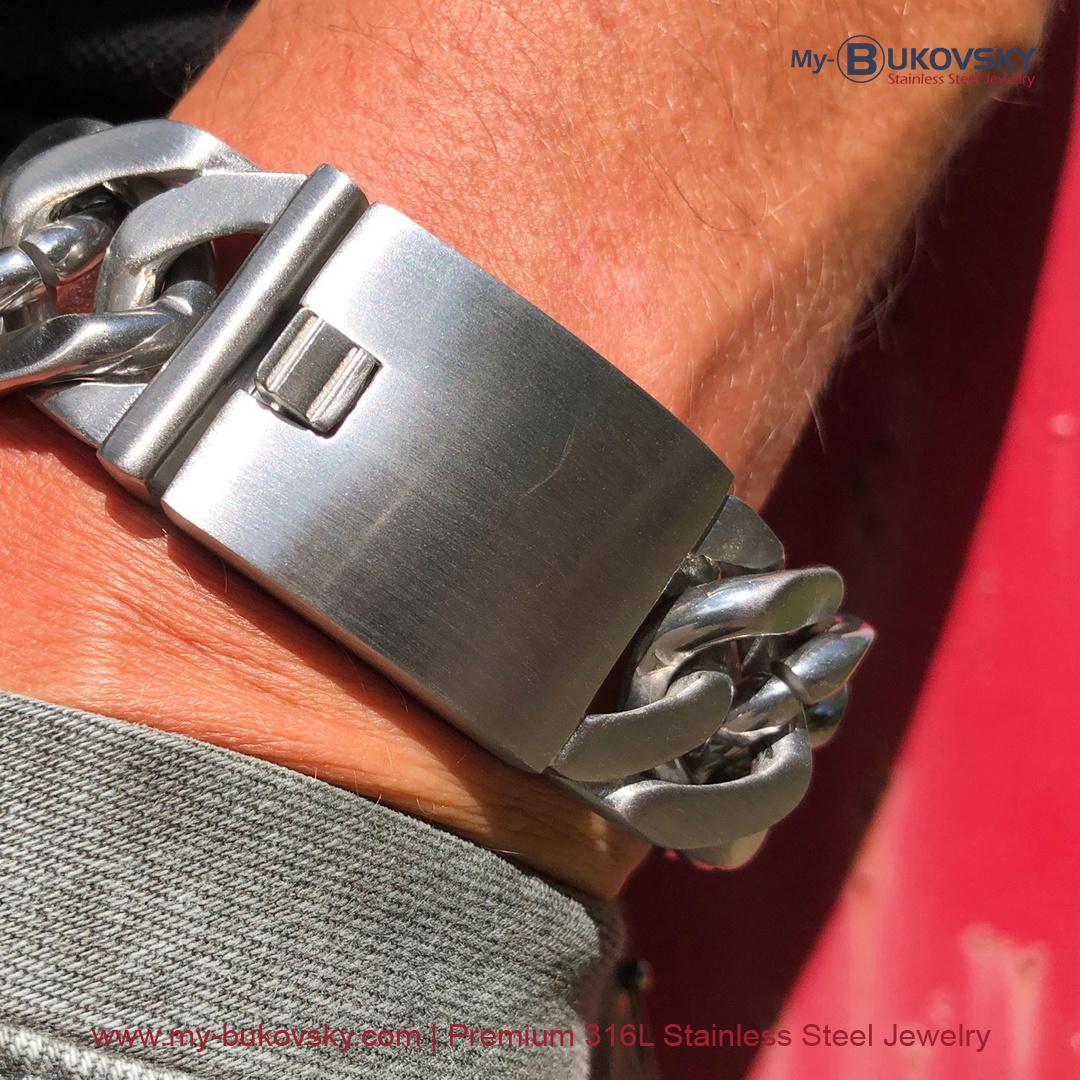brede-heren-armband-geborsteld-staal-schakel-gourmette-baksluiting-men-bukovsky-bracelet-steel-brushedt-18cm-19cm-20cm-21cm-22cm-23cm-24cm