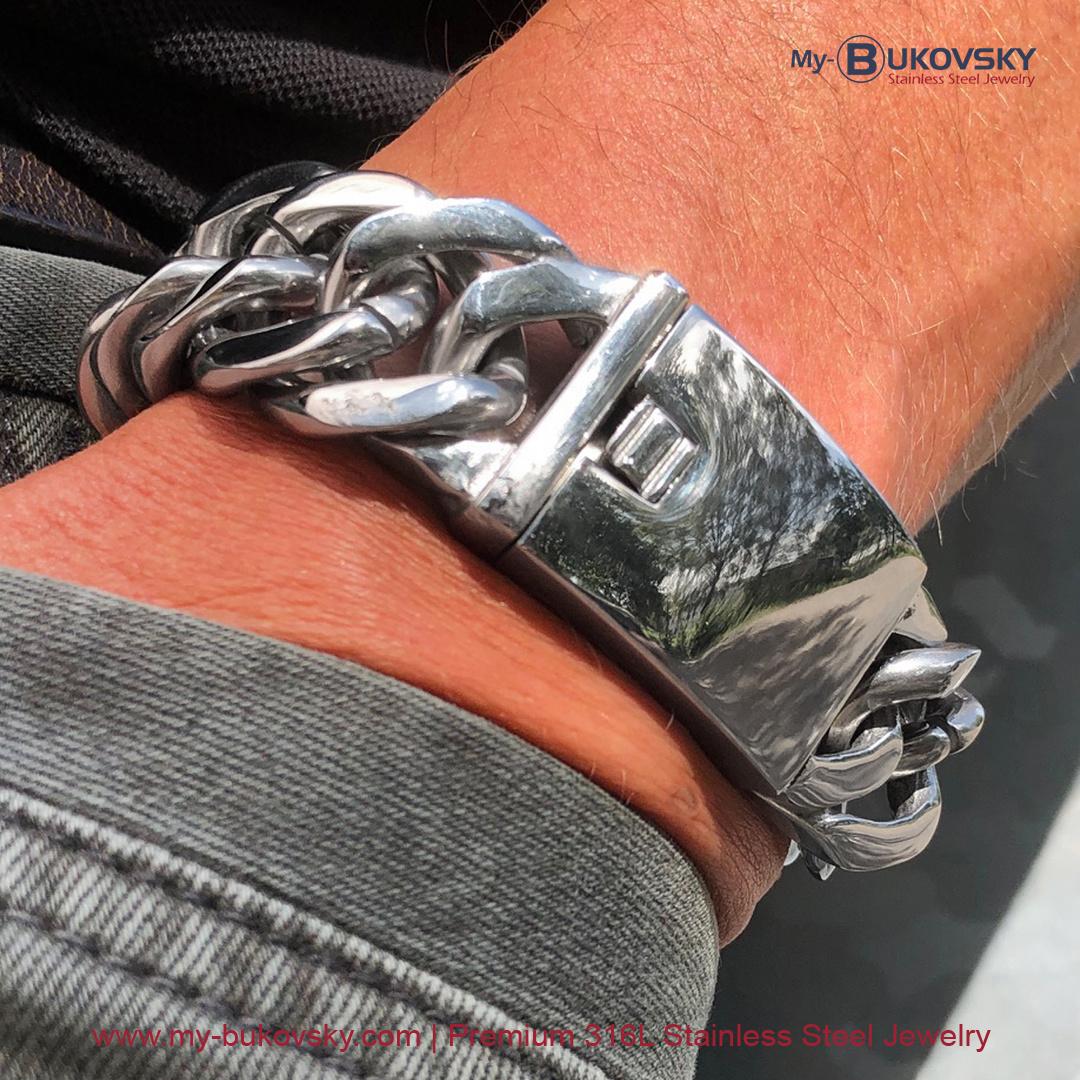 brede-heren-armband-staal-schakel-gourmette-baksluiting-men-bukovsky-bracelet-steel-gepolijst-18cm-19cm-20cm-21cm-22cm-23cm