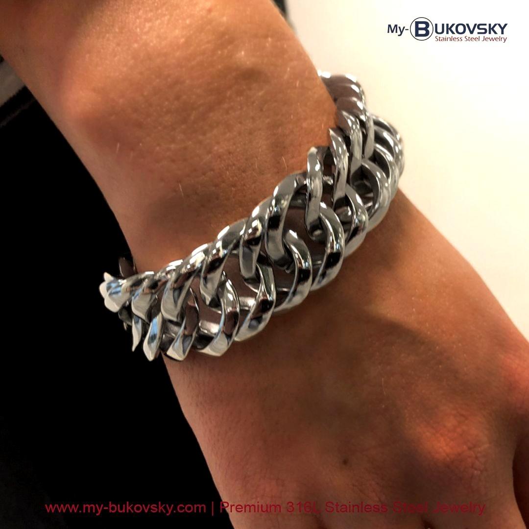 dames-armband-bukovsky-staal-rvs-gourmette-18cm-19cm-20cm-21cm-22cm-23cm-shiny-gepolijst-baksluiting-woman-bracelet-steel-polish