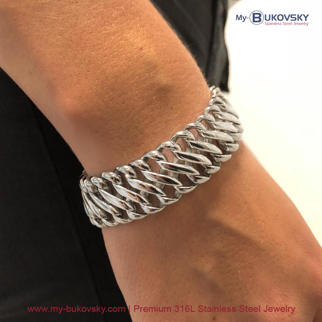 Maandaanbieding oktober 2020 - Armband staal Elegance Small nu met 15% korting - My Bukovsky