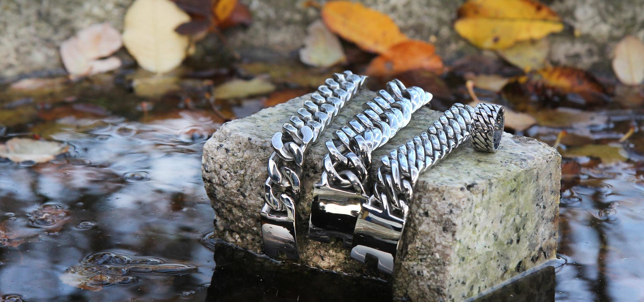 Stalen My Bukovsky armbanden Gorgeous, Prestige XL en Elegance
