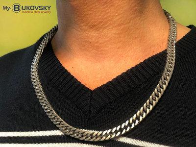 Bukovsky Stainless Steel Jewelry Bukovsky Stalen Heren Ketting SH9230 - Gourmette - Brushed - Lengte: 60 cm - Breedte: 0,8 cm - Dikte: 0,4 cm