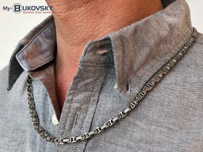 Bukovsky Stainless Steel Jewelry Bukovsky Stalen Heren Ketting SH7410 - Konings - Small - 60 cm - Breedte: 0,4 cm - Dikte: 0,4 cm