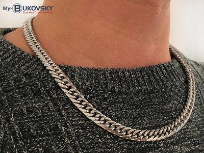 Bukovsky Stainless Steel Jewelry Bukovsky Stalen Heren Ketting SH7180 - Gourmette - Medium - Lengte: 55 cm - Breedte: 0,7 cm - Dikte: 0,3 cm.