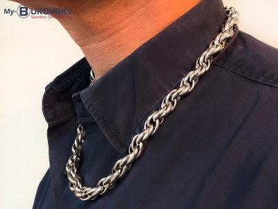 Bukovsky Stainless Steel Jewelry Bukovsky Stalen Heren Ketting SH7300 - Gepolijst - Ovaal - Breedte: 1,0 cm - Dikte: 1,0 cm - 4 Lengtematen vanaf € 55,00