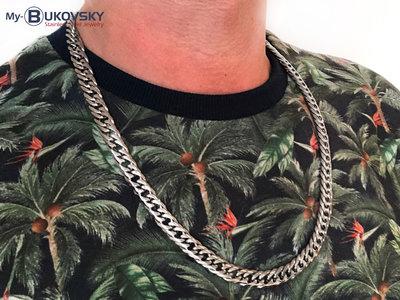 Bukovsky Stainless Steel Jewelry Bukovsky Stalen Heren Ketting SH9220 - Gourmette - Breedte: 0,9 cm - Dikte: 0,3 cm - Verkrijgbaar in 3 lengtematen