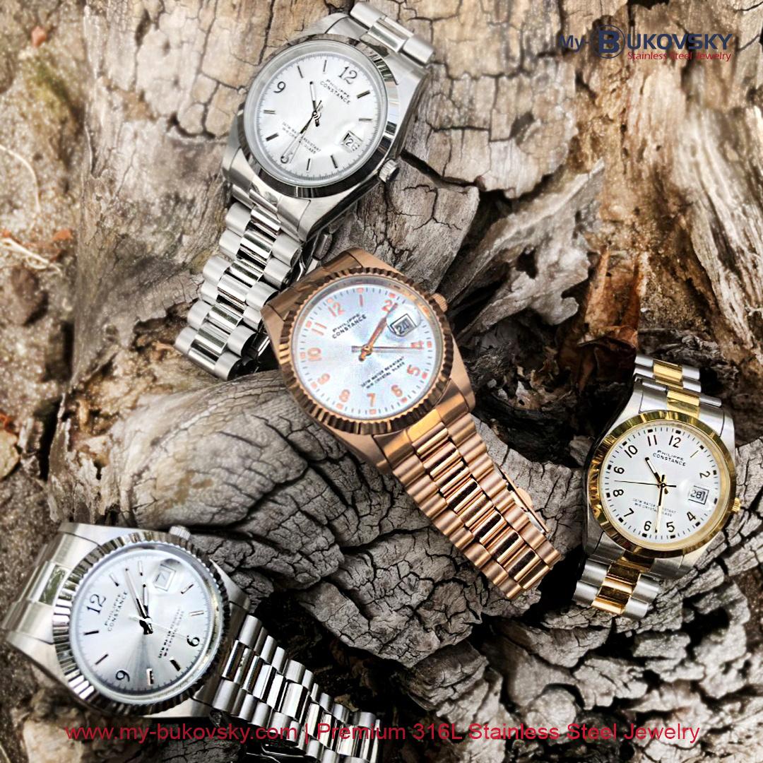 Maandaanbieding juli 2021 - 15% korting op alle Stalen Philippe Constance horloges