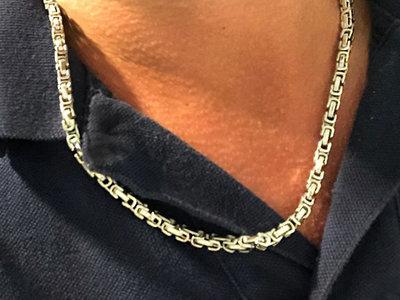 Bukovsky Stainless Steel Jewelry Bukovsky Stalen Heren Ketting SH7440 - Konings - Small - 55 cm - Breedte: 0,4 cm - Dikte: 0,4 cm