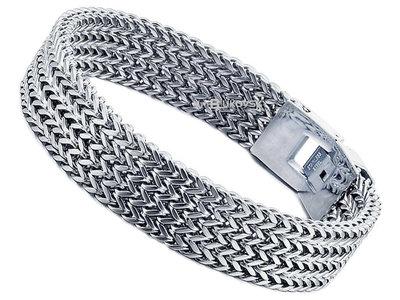 "Bukovsky Stainless Steel Jewelry Stalen Heren Armband Bukovsky ""Privilege Small"" 4 rows - Gepolijst - Vanaf € 31,50"